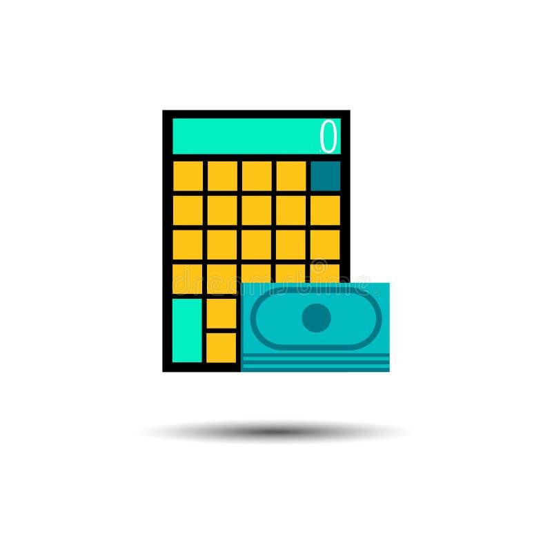 L'électron de bouton d'icône de vecteur de calculatrice calculent des affaires illustration libre de droits