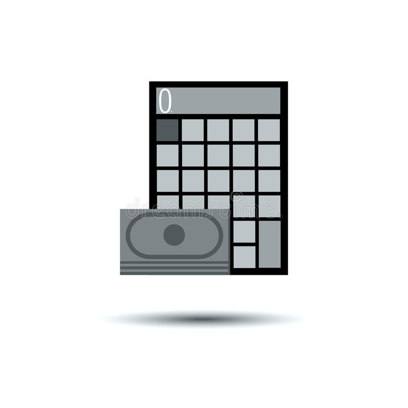 L'électron de bouton d'icône de vecteur de calculatrice calculent des affaires illustration de vecteur