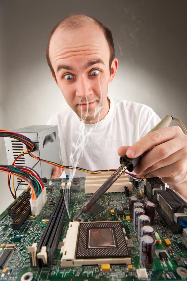 L'électronique bizarre photo stock