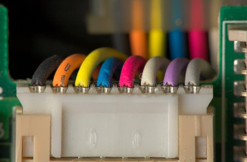 L'électronique - connecteur de câble. images stock