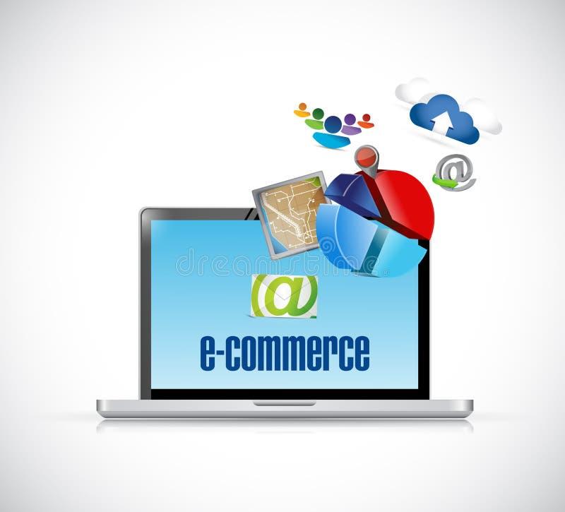 l'électronique de commerce électronique et illustration d'icônes illustration libre de droits