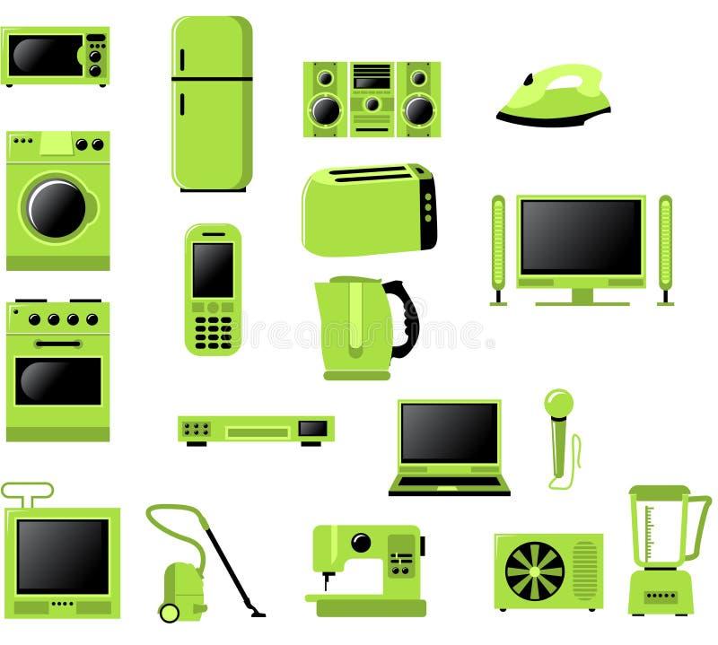 L'électronique relative à la maison illustration stock