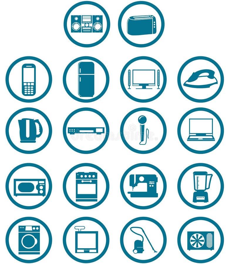 L'électronique relative à la maison illustration de vecteur