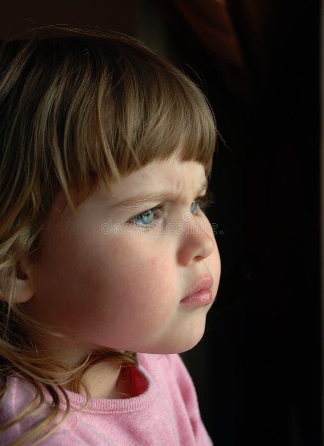 L'émotion de l'enfant images stock