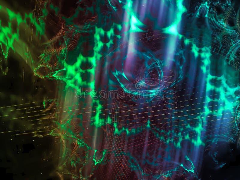L'énergie abstraite de fantaisie de fond de fractale a produit de la future présentation de conception élégante, magie illustration libre de droits