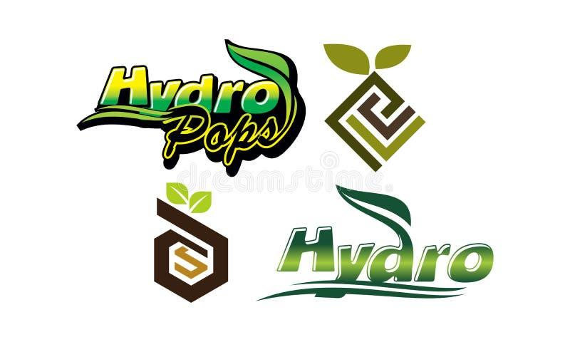 L'énergie hydraulique saute le logo d'emblème de lettre illustration de vecteur