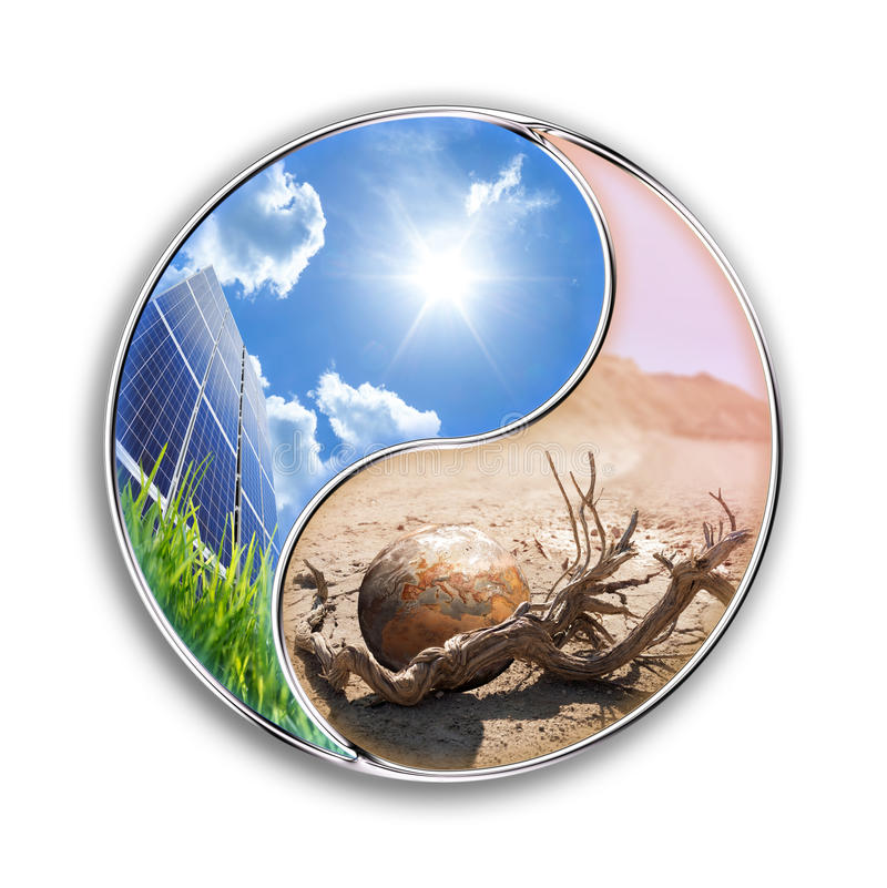 L'énergie solaire peut sauver notre planète photographie stock libre de droits