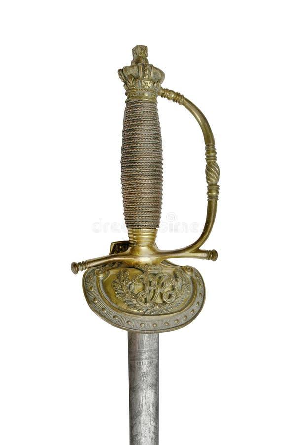 L'épée (rapière) des Anglais gardent le dirigeant photo stock