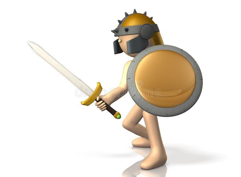 L'épéiste prend l'épée. illustration libre de droits
