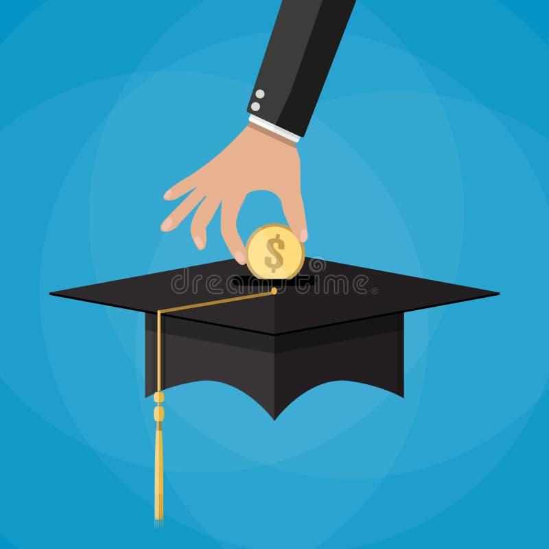L'épargne d'éducation et concept d'investmet illustration libre de droits