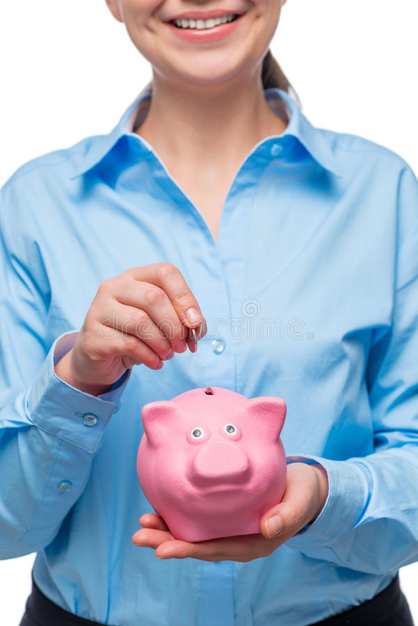 L'épargne est la bonne étape à la richesse ! images libres de droits