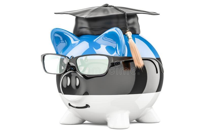 L'épargne pour l'éducation dans le concept de l'Estonie, rendu 3D illustration de vecteur