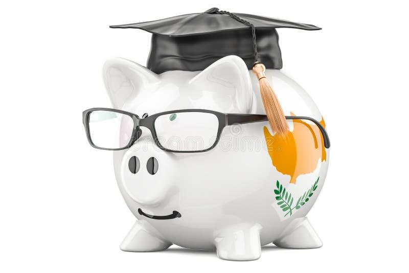 L'épargne pour l'éducation dans le concept de la Chypre, rendu 3D illustration libre de droits