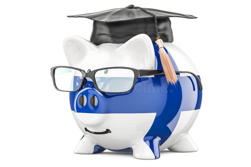 L'épargne pour l'éducation dans le concept de la Finlande, rendu 3D illustration stock