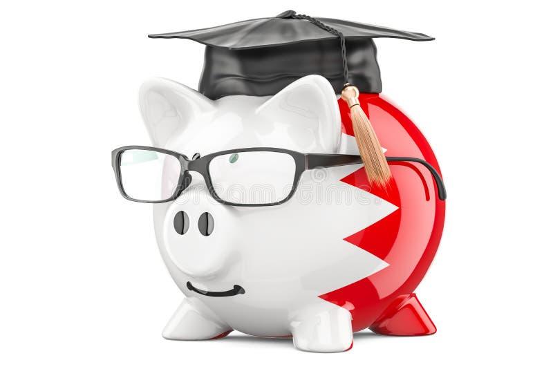 L'épargne pour l'éducation dans le concept du Bahrain, rendu 3D illustration libre de droits
