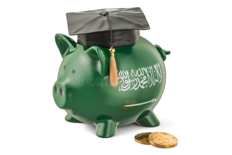 L'épargne pour l'éducation dans le concept de l'Arabie Saoudite, rendu 3D illustration de vecteur