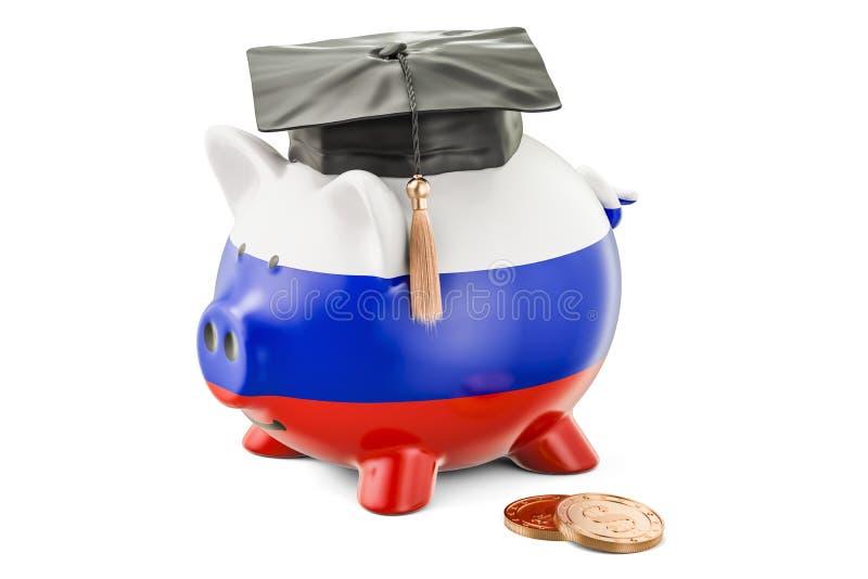 L'épargne pour l'éducation dans le concept de la Russie, rendu 3D illustration stock