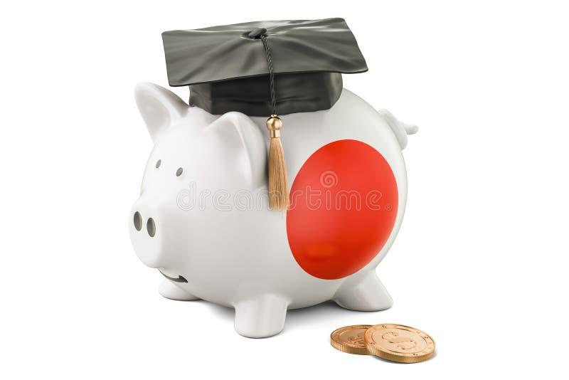 L'épargne pour l'éducation dans le concept du Japon, rendu 3D illustration stock