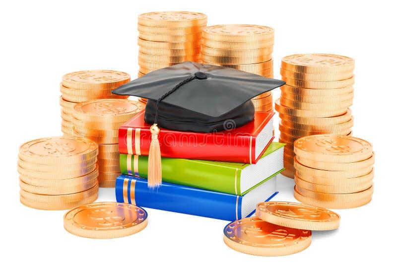 L'épargne pour le concept d'éducation, rendu 3D illustration stock