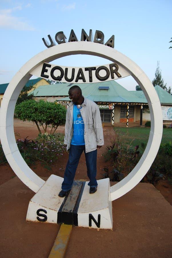 L'équateur de l'Ouganda photographie stock libre de droits
