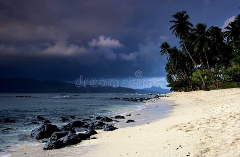 l'équateur de plage images stock