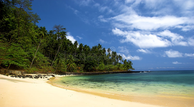 l'équateur de plage photographie stock
