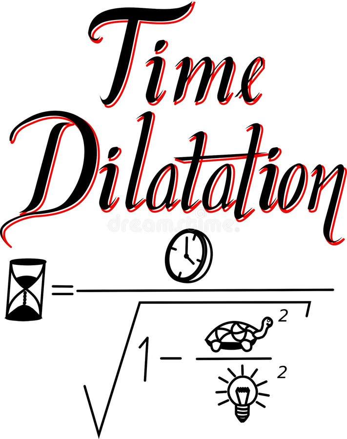 L'équation de la dilatation de temps a illustré illustration libre de droits