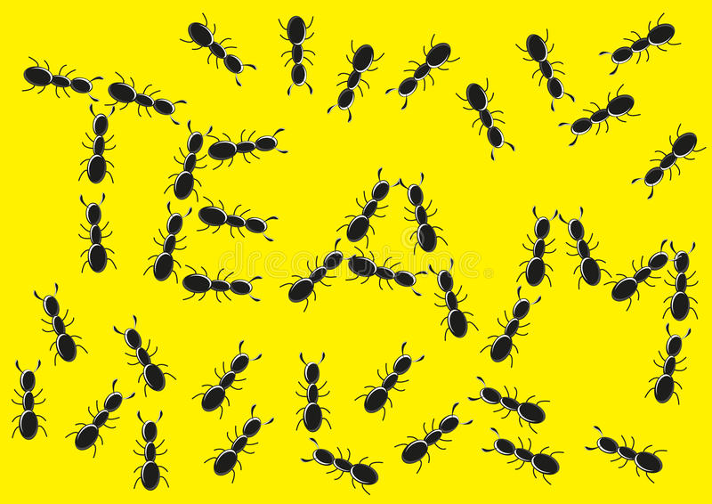 L'équipe de fourmi illustration stock