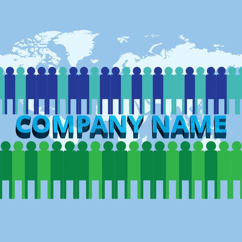 L'équipe grandissante de société d'entreprise illustration de vecteur