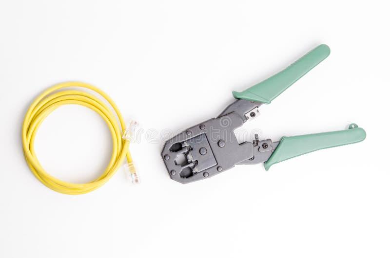 L'équipement d'entretien de connexion a isolé photographie stock