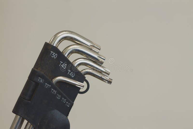 L équipement d'outil de clé photo stock