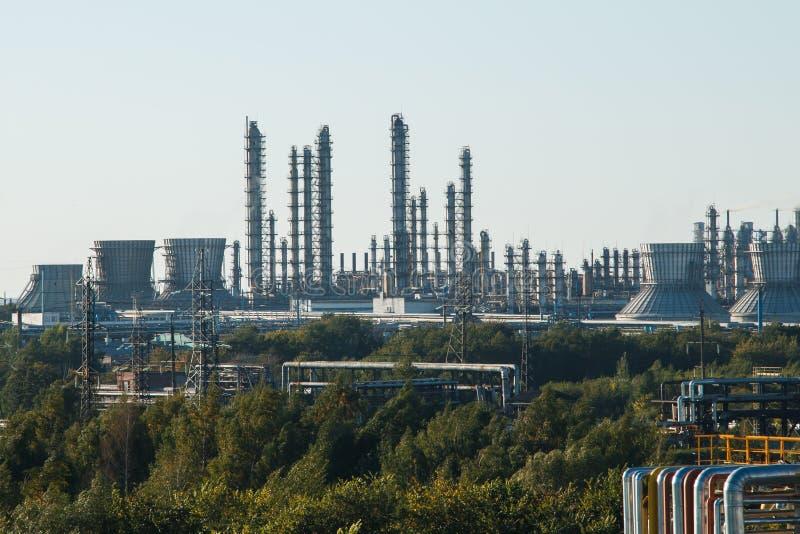 L'équipement du raffinage du pétrole photos libres de droits
