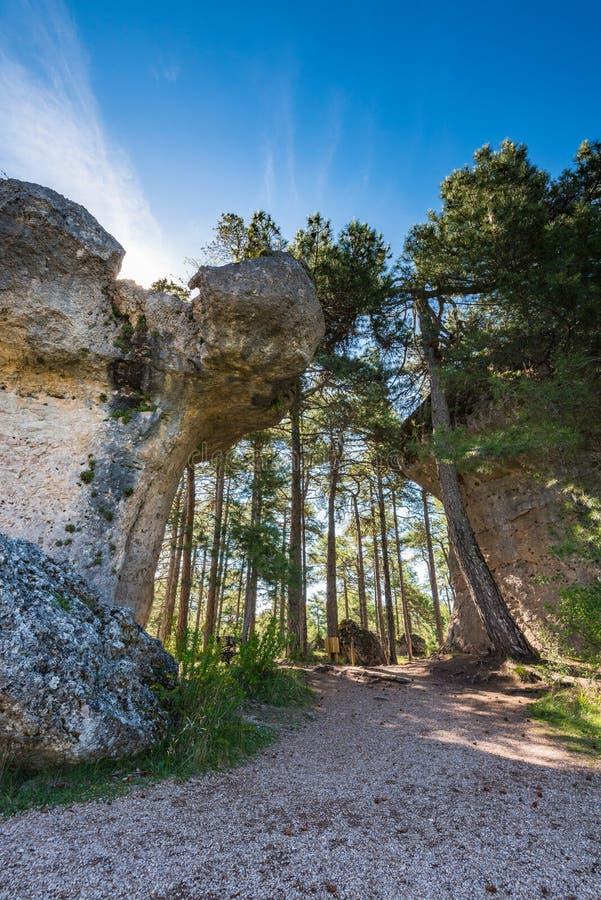 L'érosion bascule dans la ville enchantée par parc de réservation à Cuenca photos libres de droits