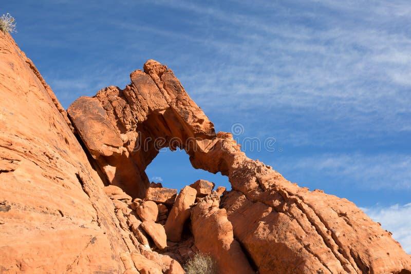 L'érosion de vent a créé la formation géologique photo libre de droits
