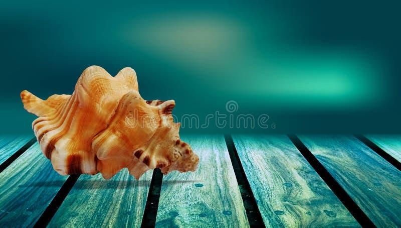 L'été écosse le fond en bois vert de table image stock