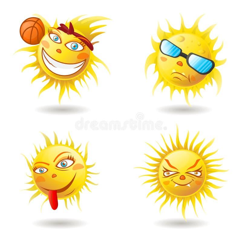 L'été Sun font face photographie stock