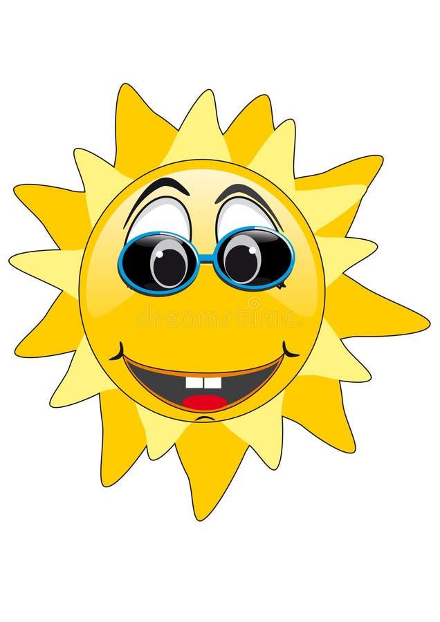 L'été Sun font face illustration de vecteur