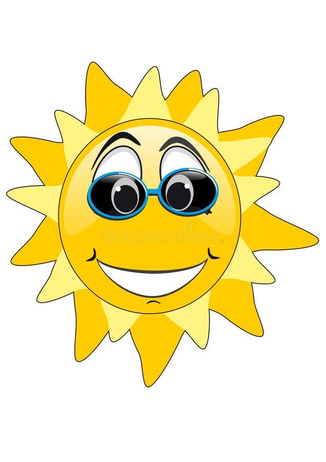 L'été Sun font face illustration stock