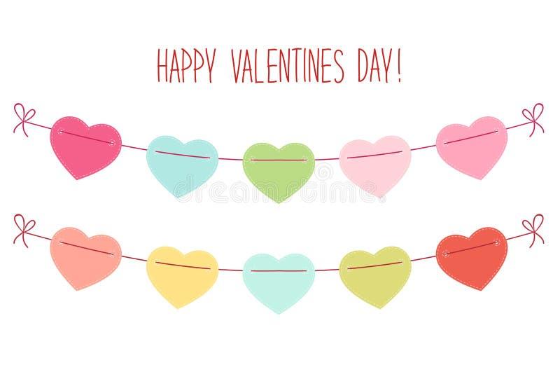 L'étamine en forme de coeur de vintage mignon marque l'idéal pour le jour de valentines etc. illustration libre de droits