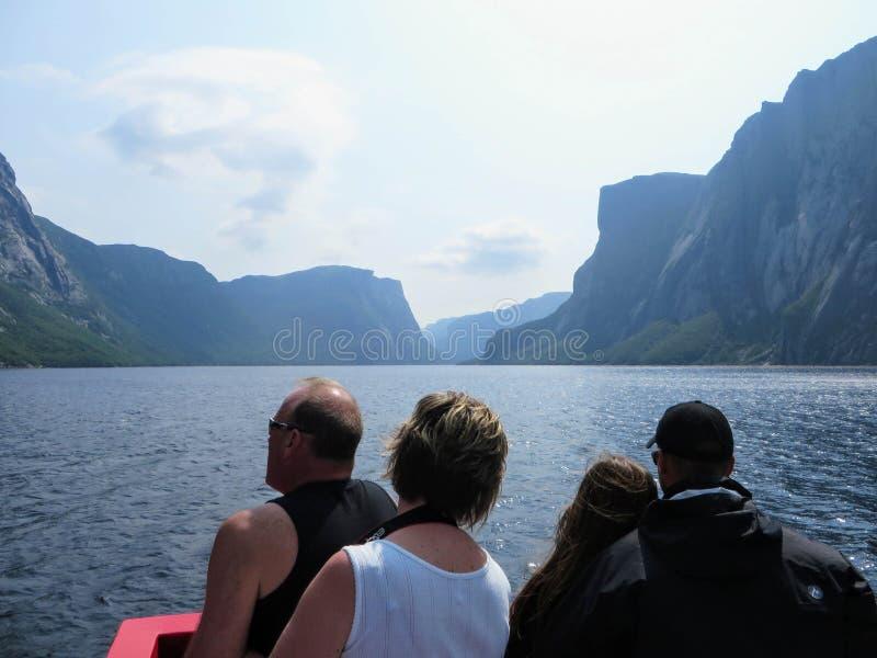 L'étang occidental de ruisseau, Grose Morne National Park, Terre-Neuve, peut photographie stock