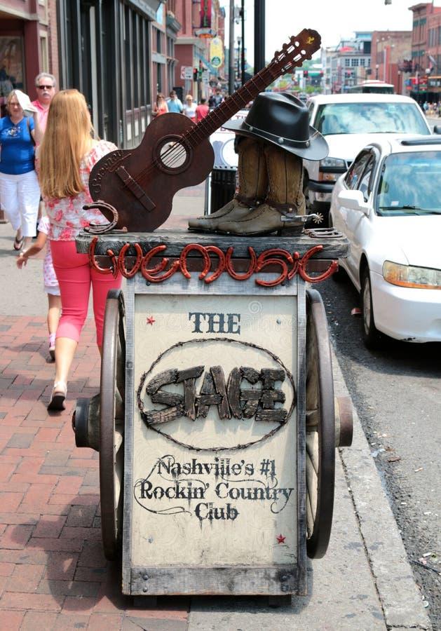 L'étape sur Broadway, Live Music Venue Nashville Tennessee photo libre de droits