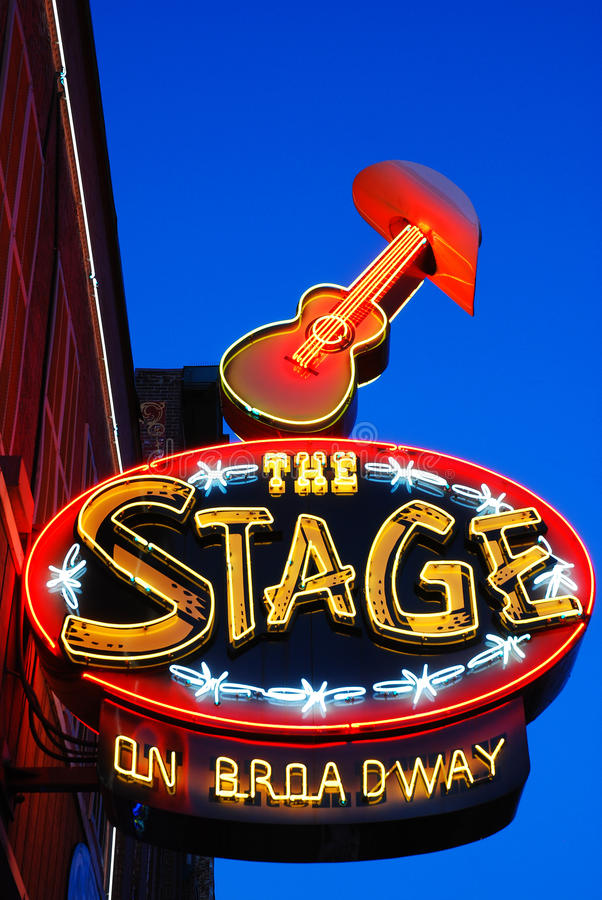 L'étape sur Broadway, Nashville photos libres de droits