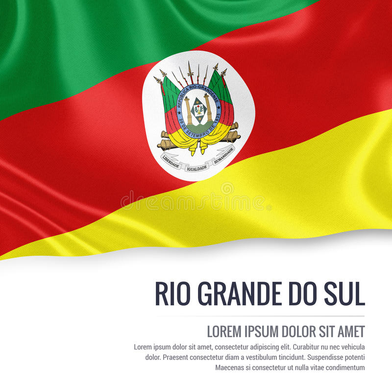 L'état brésilien Rio Grande font le drapeau de Sul illustration de vecteur