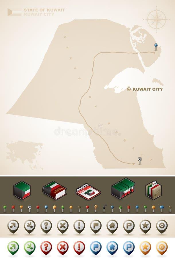 L'État du Kuwait illustration stock
