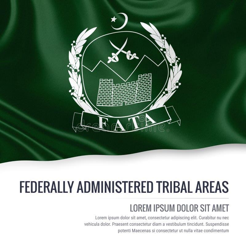 L'état statePakistan du Pakistan a fédéralement administré le drapeau tribal de secteurs illustration de vecteur