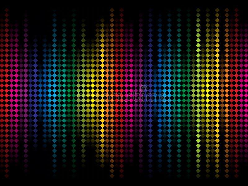 L'étincelle colorée abstraite d'arc-en-ciel pointille le fond illustration libre de droits