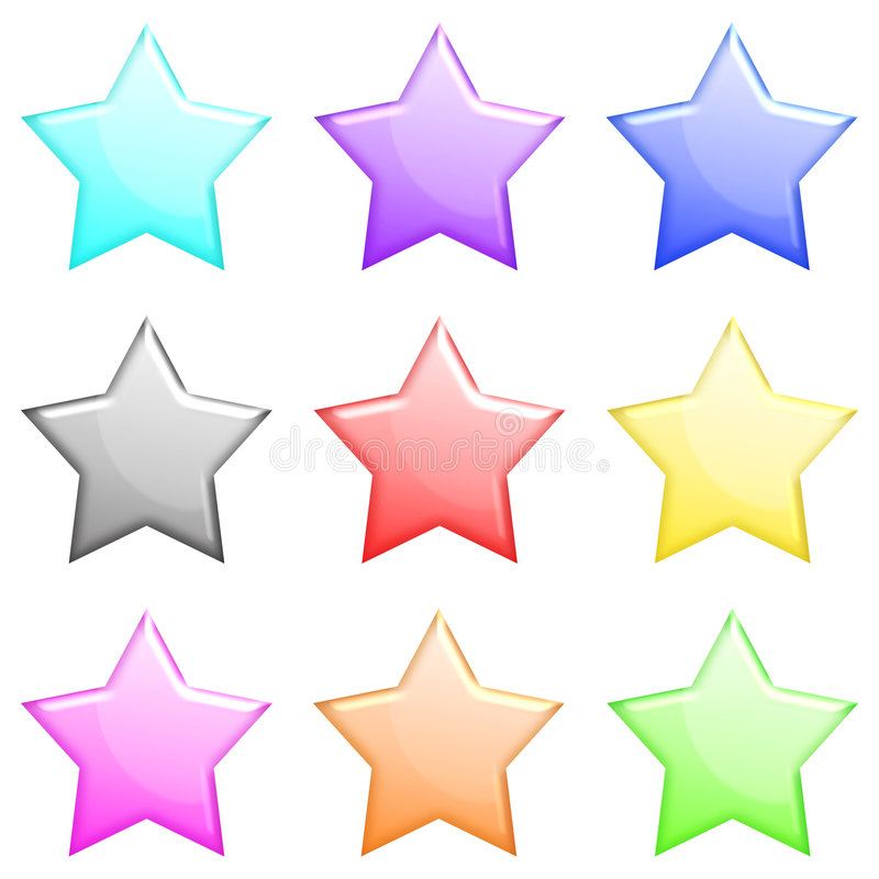 L'étoile brillante a placé 1 illustration stock