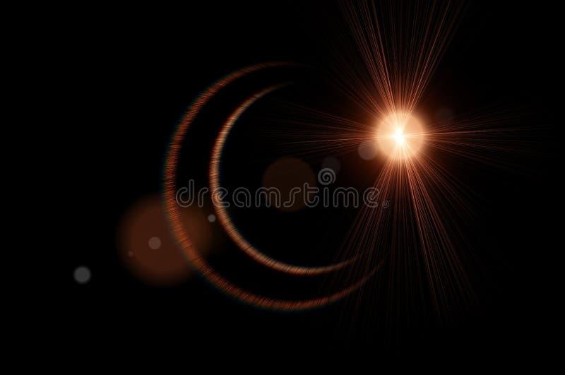 L'étoile cosmique, étoile de l'espace, starburst, tiennent le premier rôle les rayons légers, rayon de soleil illustration stock