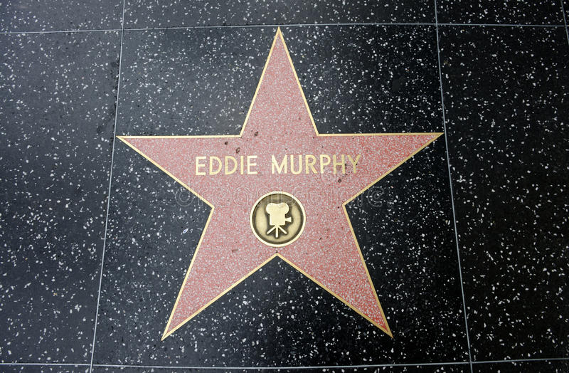 L'étoile d'Eddie Murphy images stock