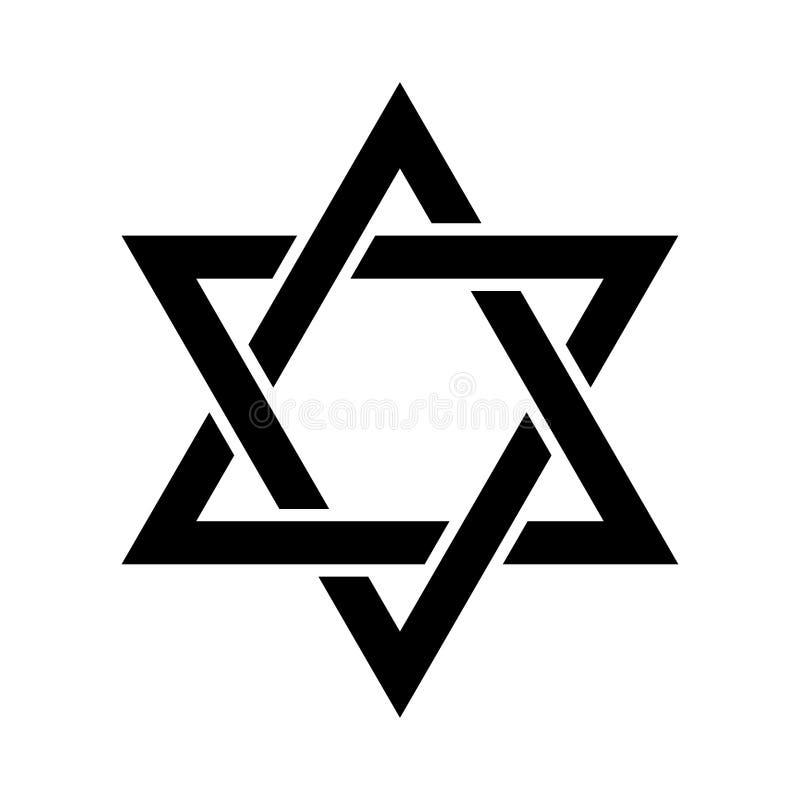 L'étoile de David ou le bouclier de David illustration stock